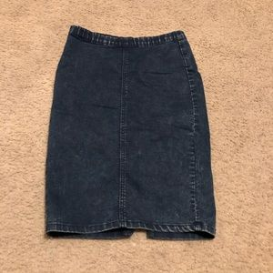 Forever 21 dark jean stretch pencil skirt small